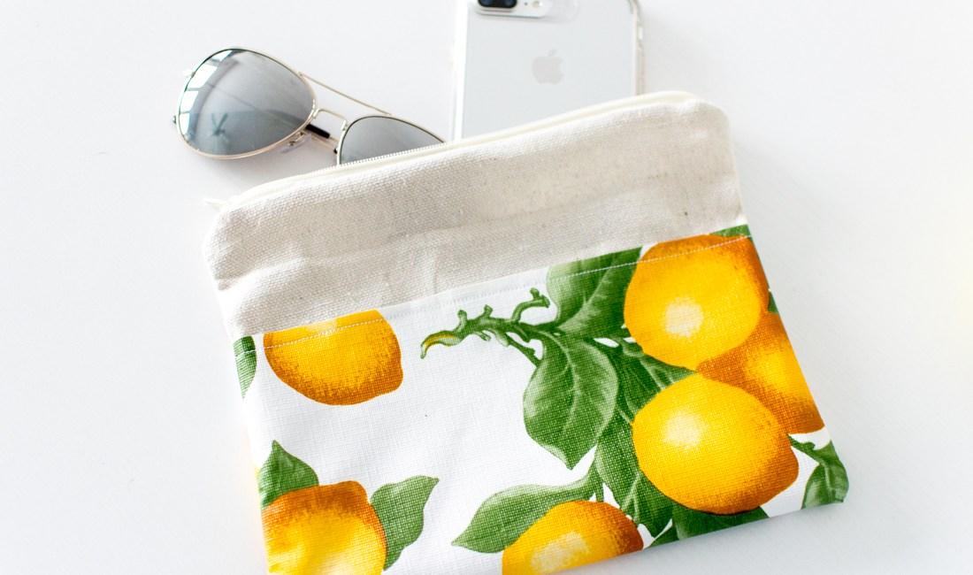 DIY Lemon Pouch by Jenny Bess of Sweet Teal