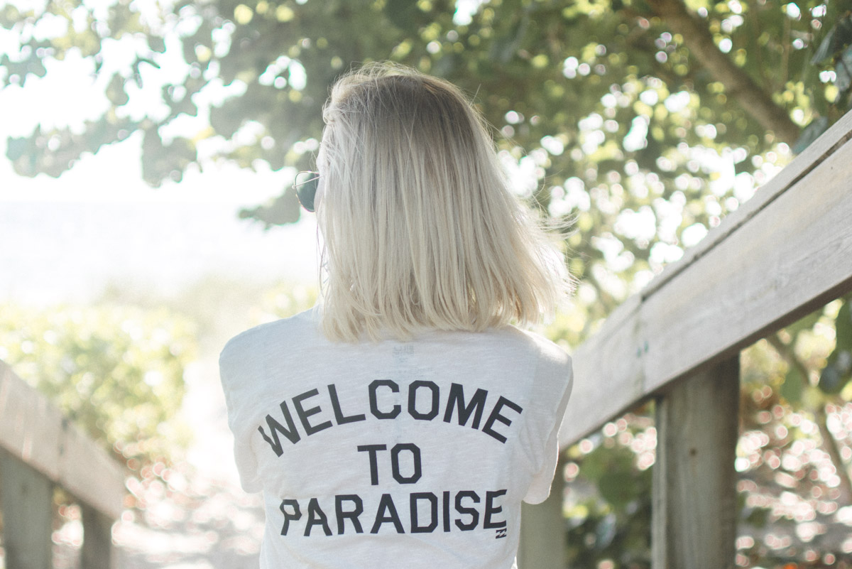 Welcome To Paradise Billabong Tee from Amazon - Sweet Teal