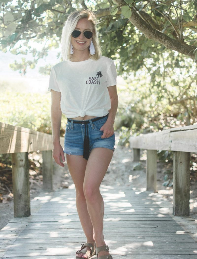Jenny Bess of Sweet Teal wearing Billabong tee from Amazon