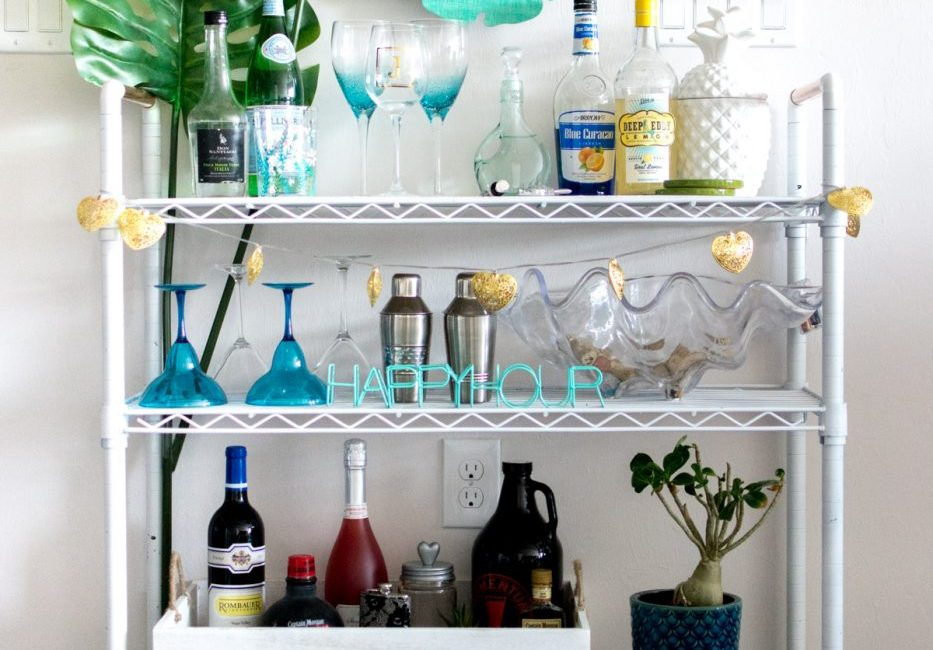 DIY Bar Cart - Sweet Teal