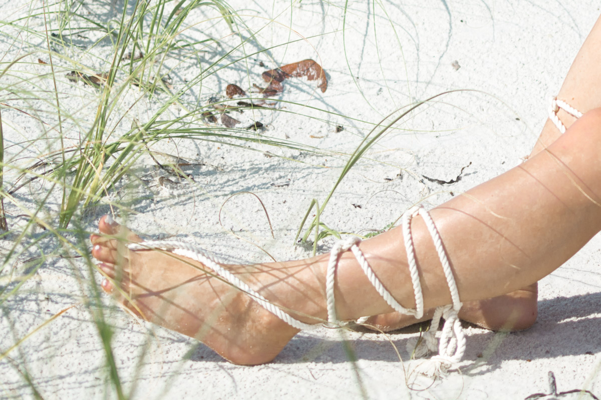 DIY Barefoot Sandals by Jenny Bess of Sweet Teal
