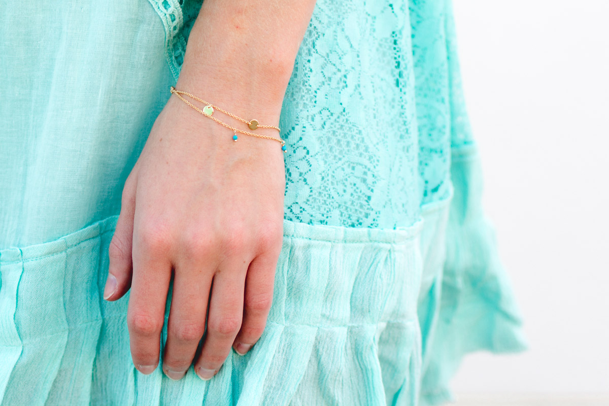 Motif Layered Chain Bracelet on Jenny Bess of Sweet Teal