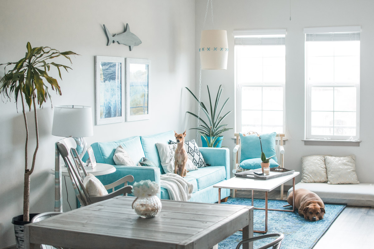 Boho Tropical Living Room by Jenny of Sweet teal