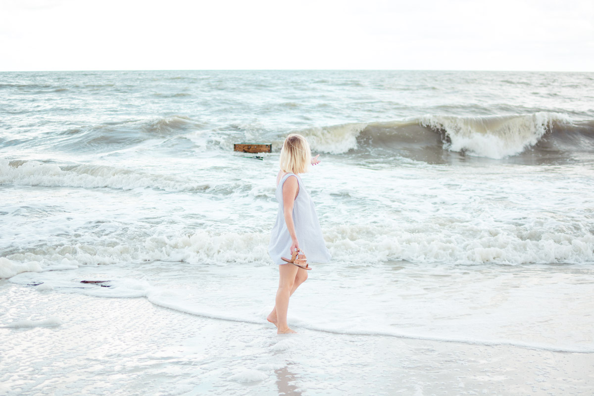 DIY cotton dress worn by Jenny of Sweet Teal