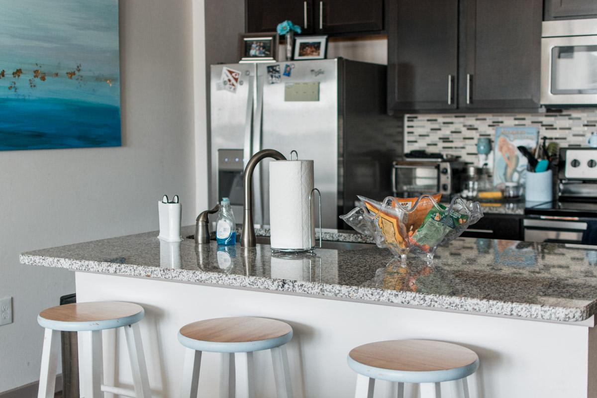 Apartment Tour Kitchen - Sweet Teal