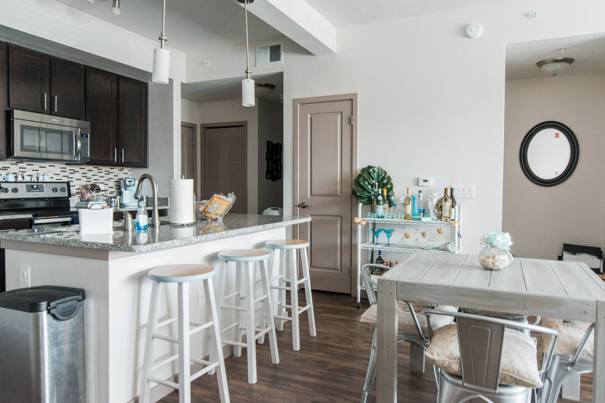 Apartment Tour - Dining Room & Kitchen