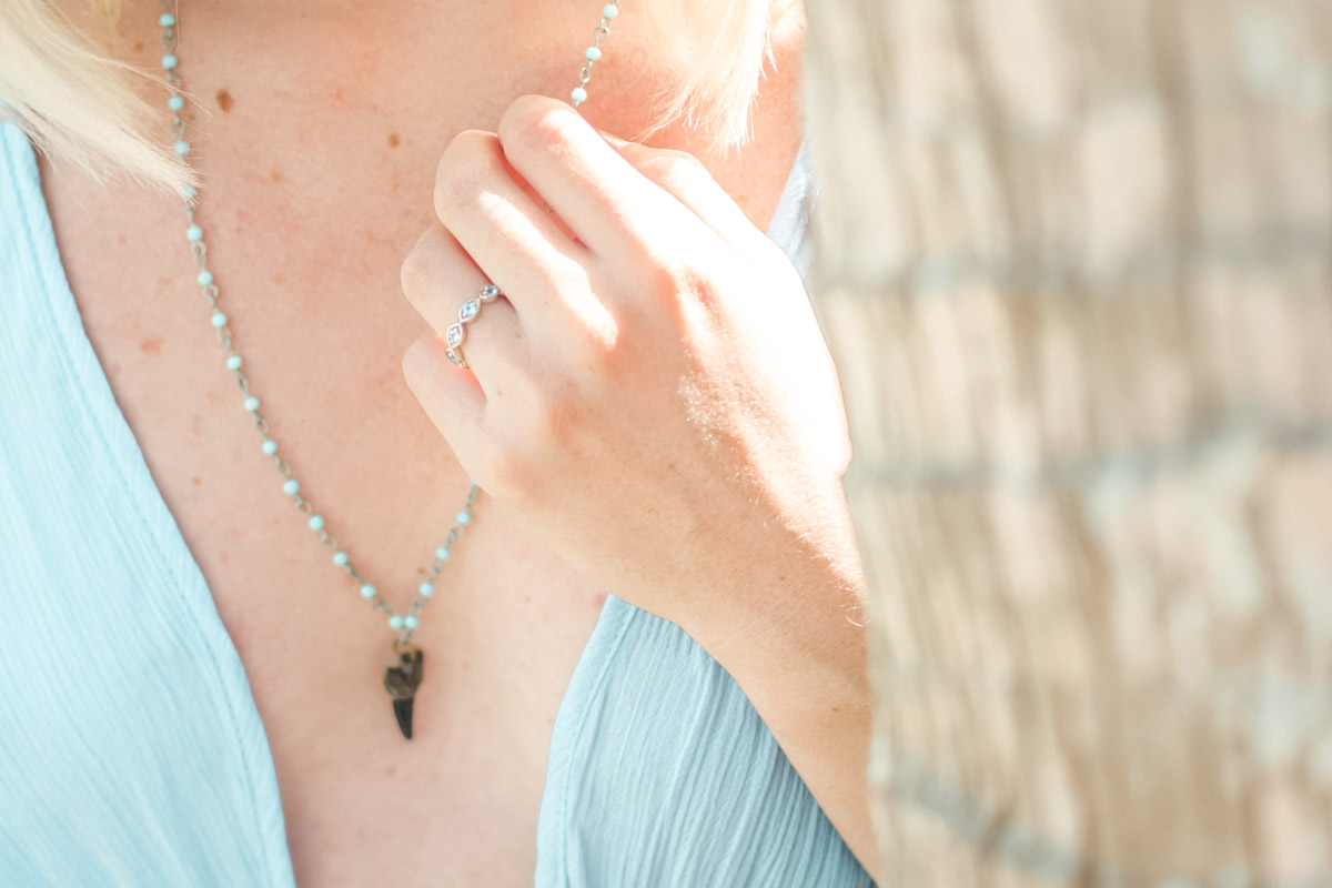 Topaz Eternity Anjolee Ring worn by Jenny of Sweet Teal