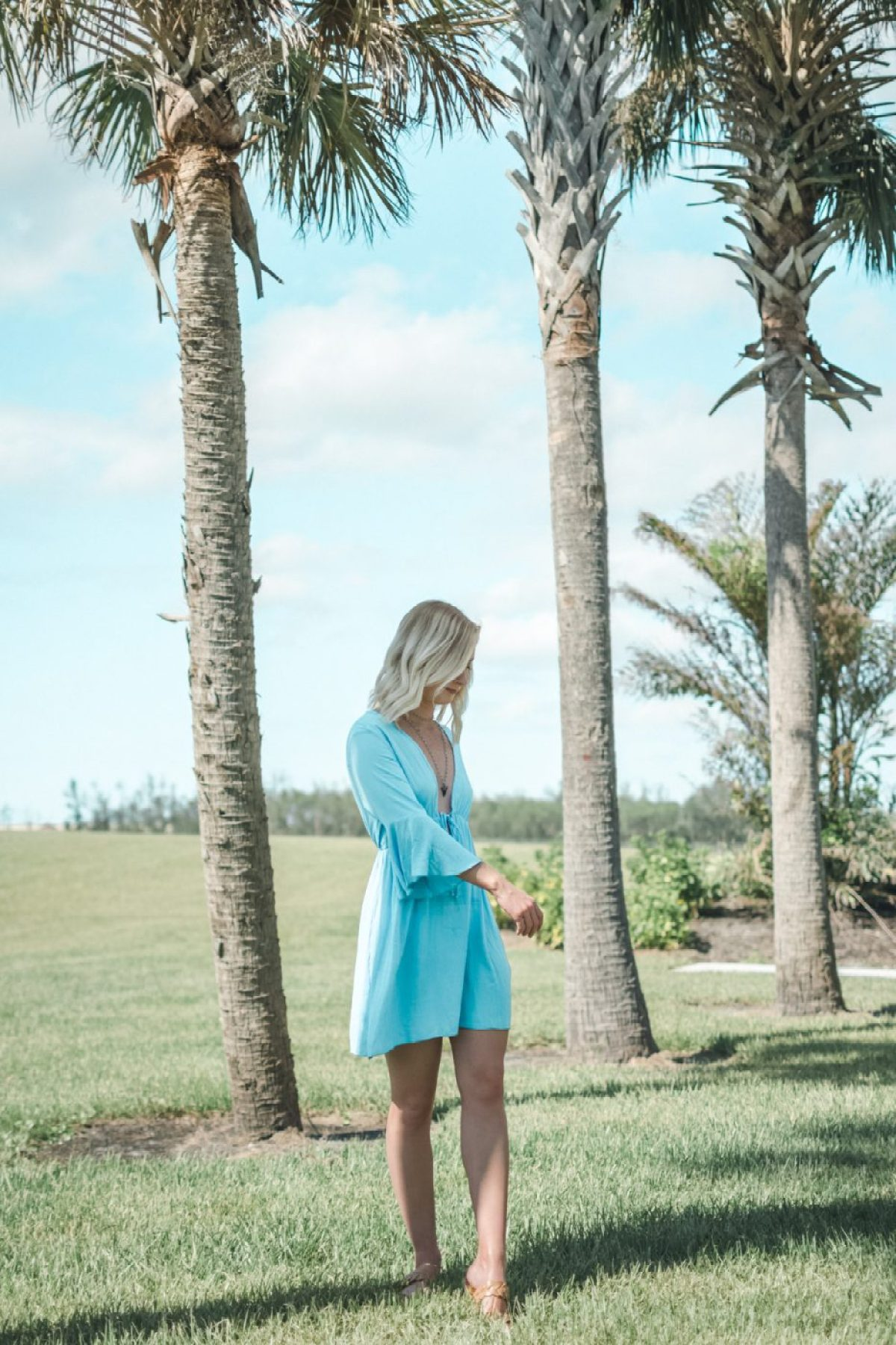 Bell Sleeve Dress worn by Jenny of Sweet Teal