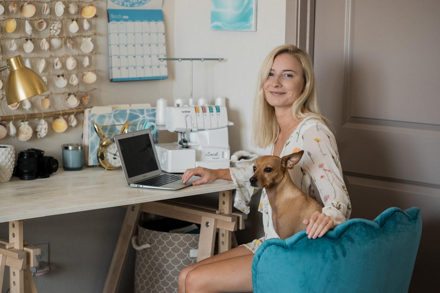 Beachy Boho Office - Jenny with Gunner
