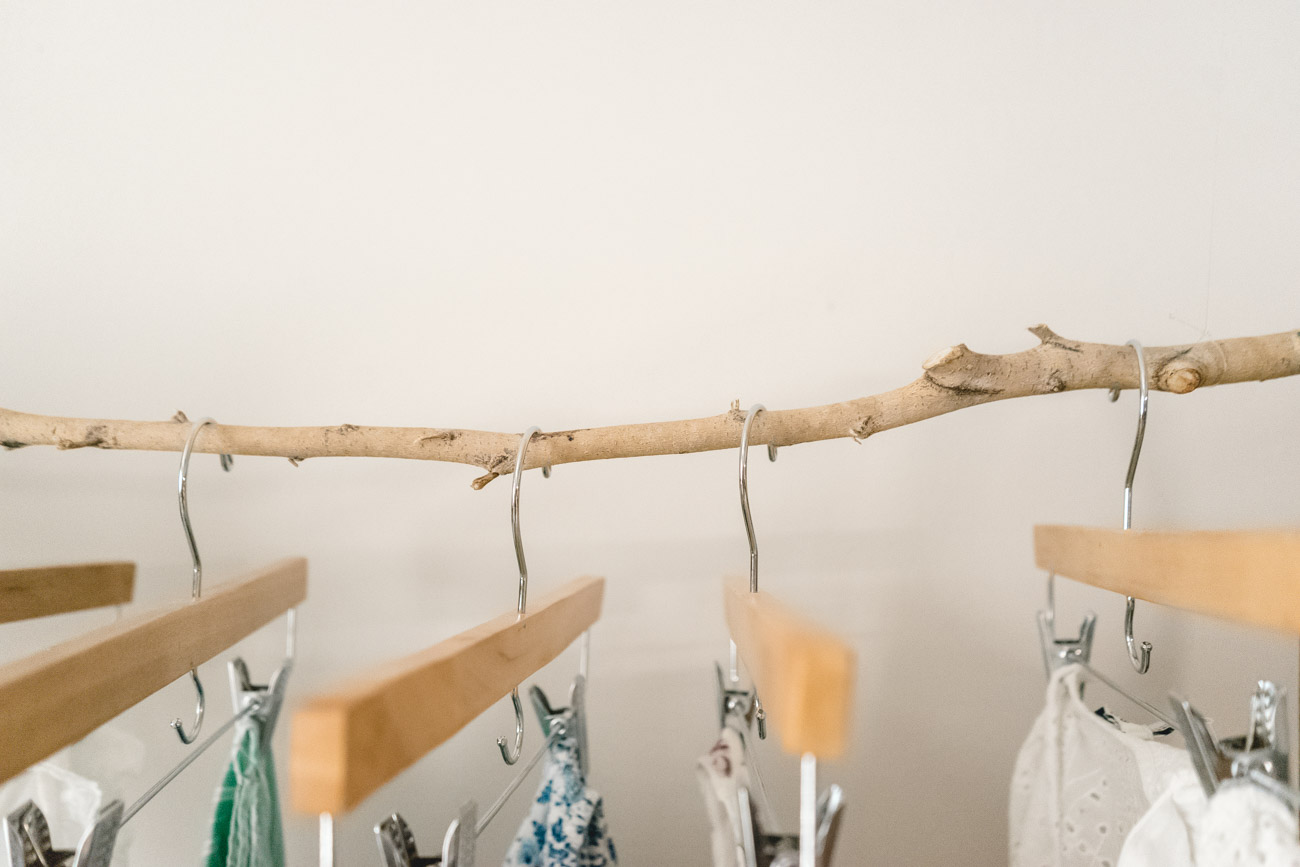 How To Make A Floating Clothing Rack out of a stick