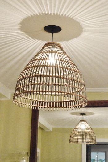 Turn A Basket Into A Pendant Light - Make Your Home Look Like A Million Bucks