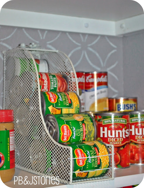 Pantry Organization - Magazine Holder For Canned Goods