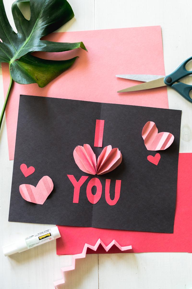 diy popup valentine's day cards