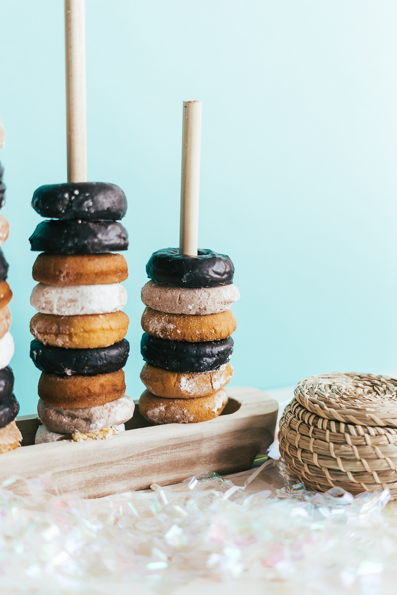 DIY Donut Stand - Sweet Teal