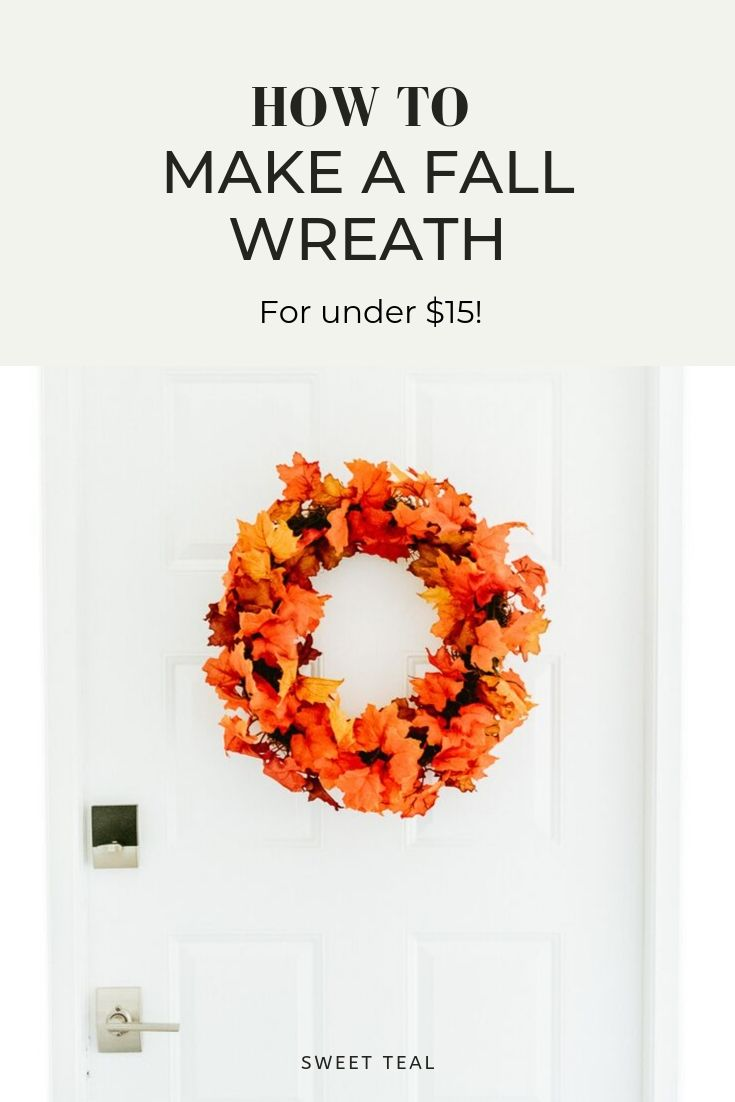 Fall Wreath DIY featured on a front door by Jenny Bess