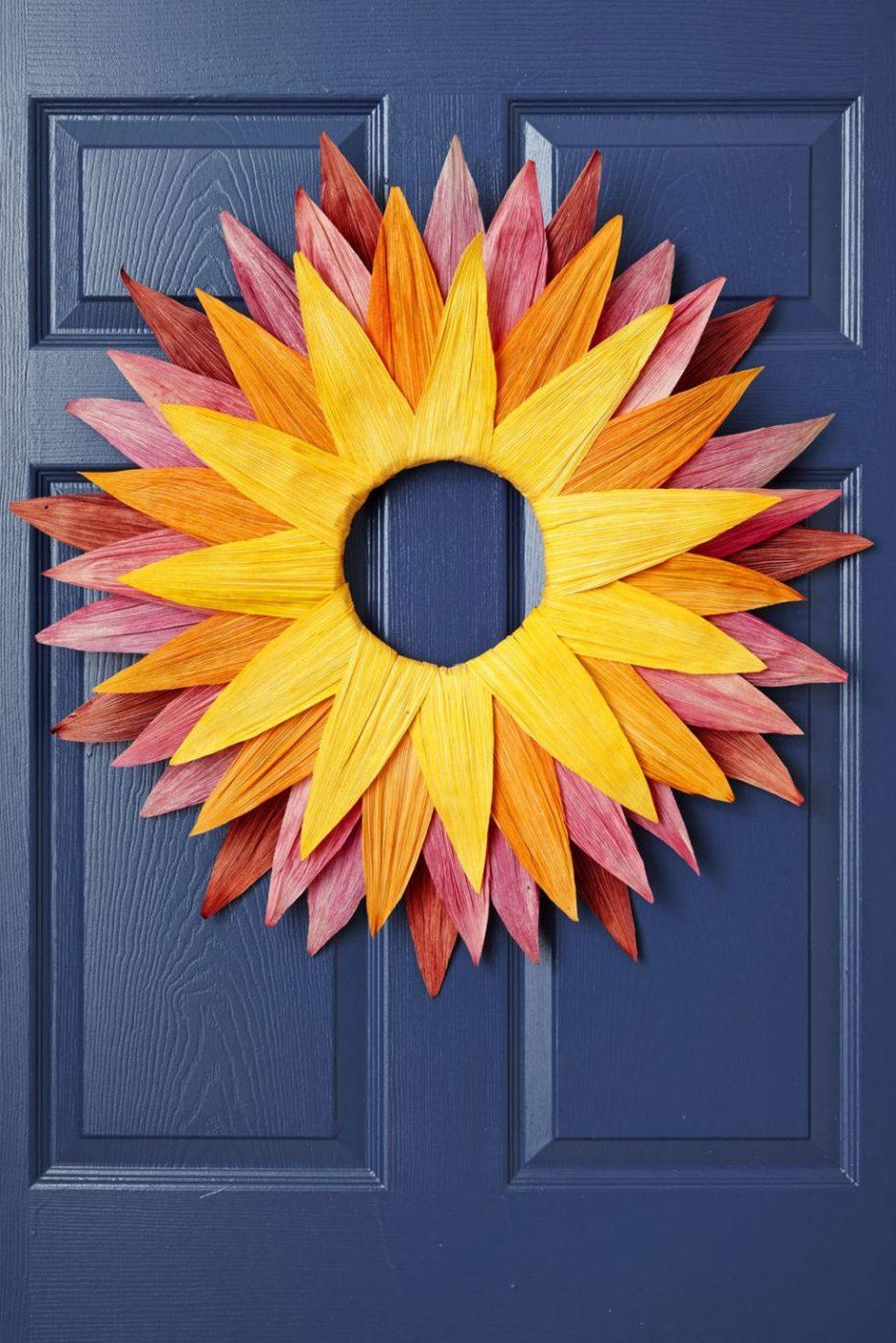 Fall Ombre Wreath Idea
