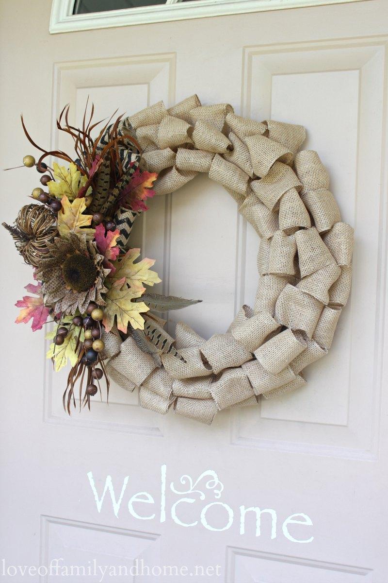 Burlap Fall Wreath DIY