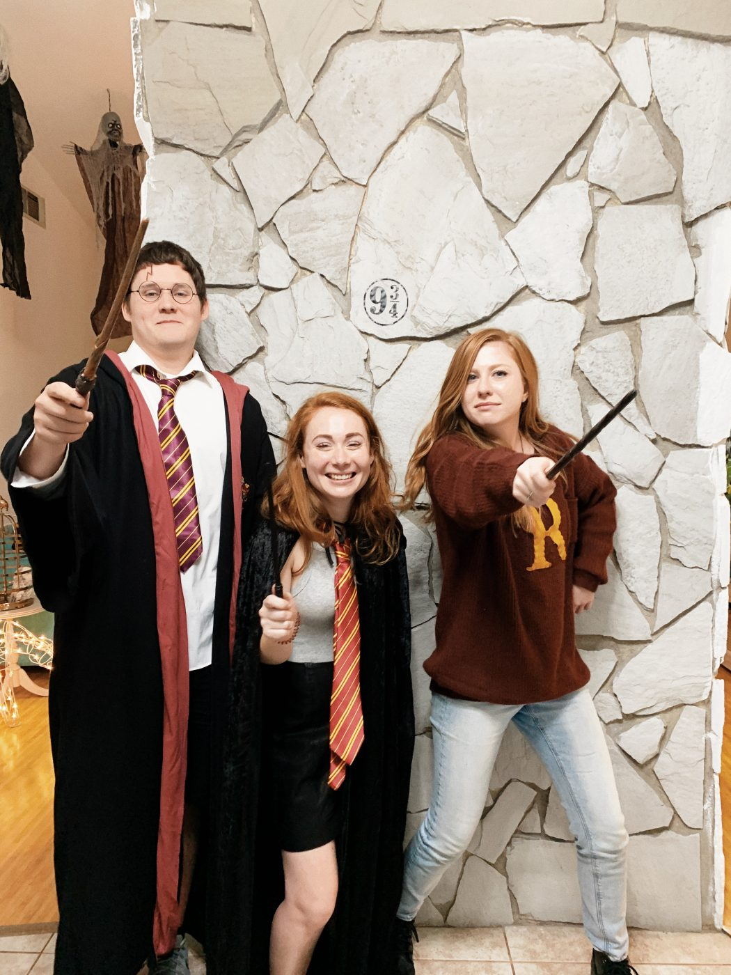 Harry Potter, Hermione, and Ron costumes