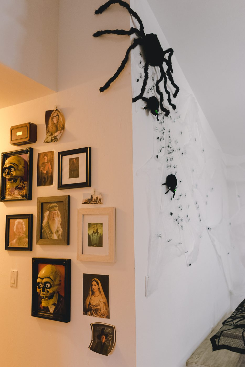 Harry Potter gallery wall and spider wall