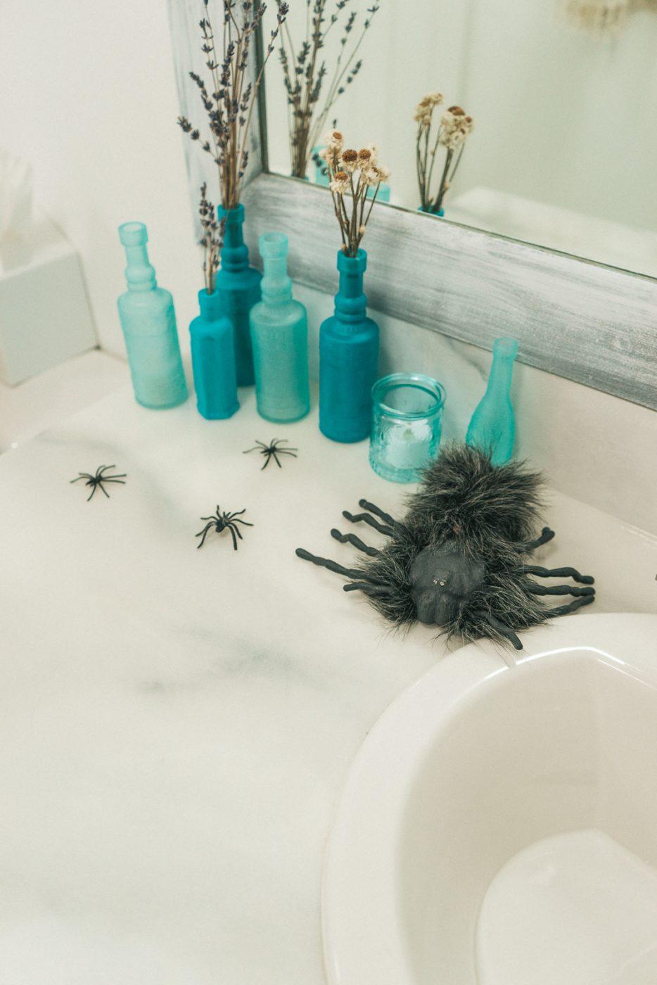 Spiders in bathroom