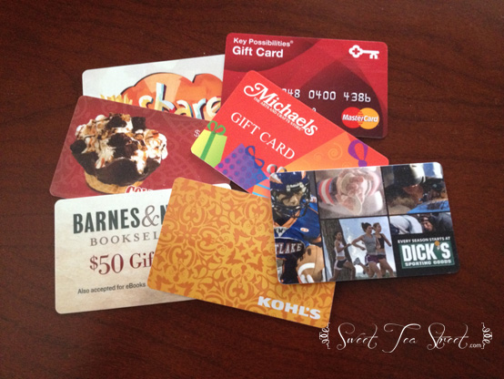 Gift cards front
