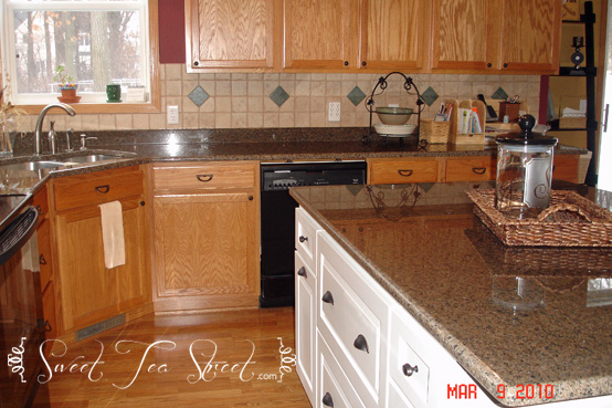 kitchen transition white island