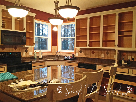 unfinished cabinets