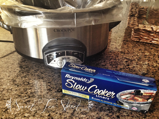 crock pot with Reynolds liners