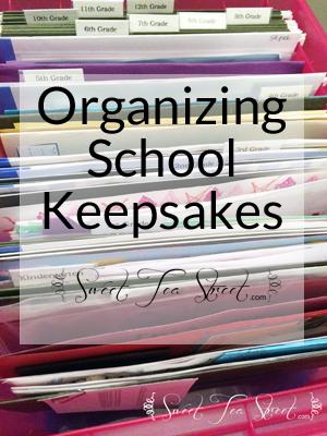 Organizing School Keepsakes