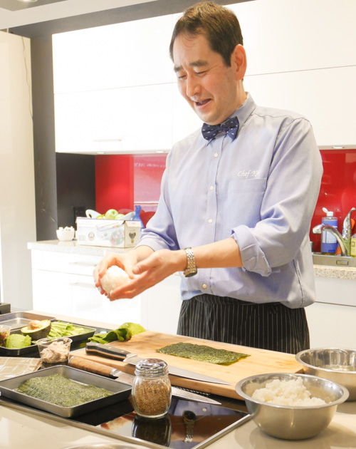 Sushi Rice & Cucumber Seaweed Salad