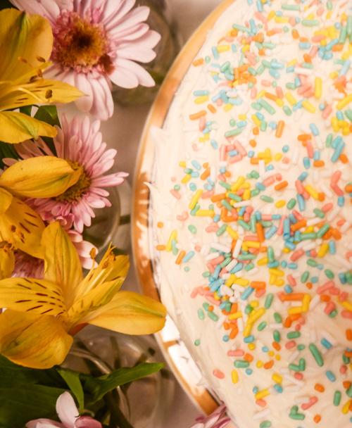 Homemade Funfetti Cake | www.sweetteasweetie.com