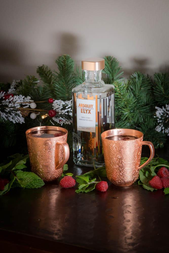 Raspberry Mule with Absolut Elyx | www.sweetteasweetie.com