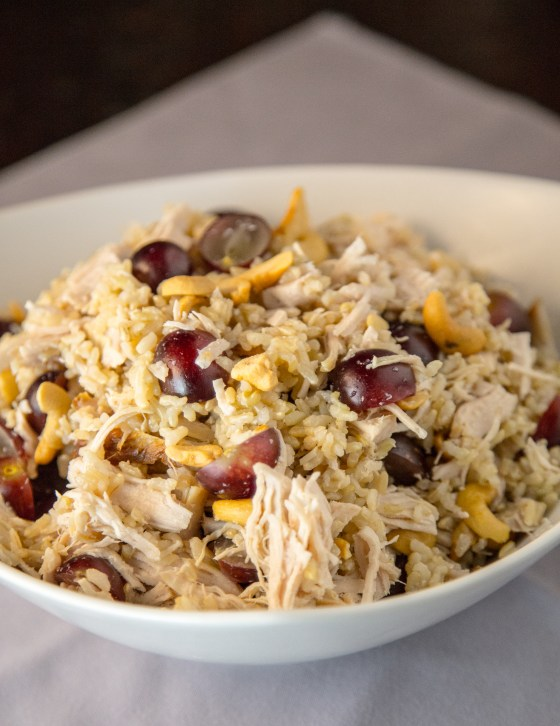 Road Trip Turkey & Wild Rice Salad | www.sweetteasweetie.com