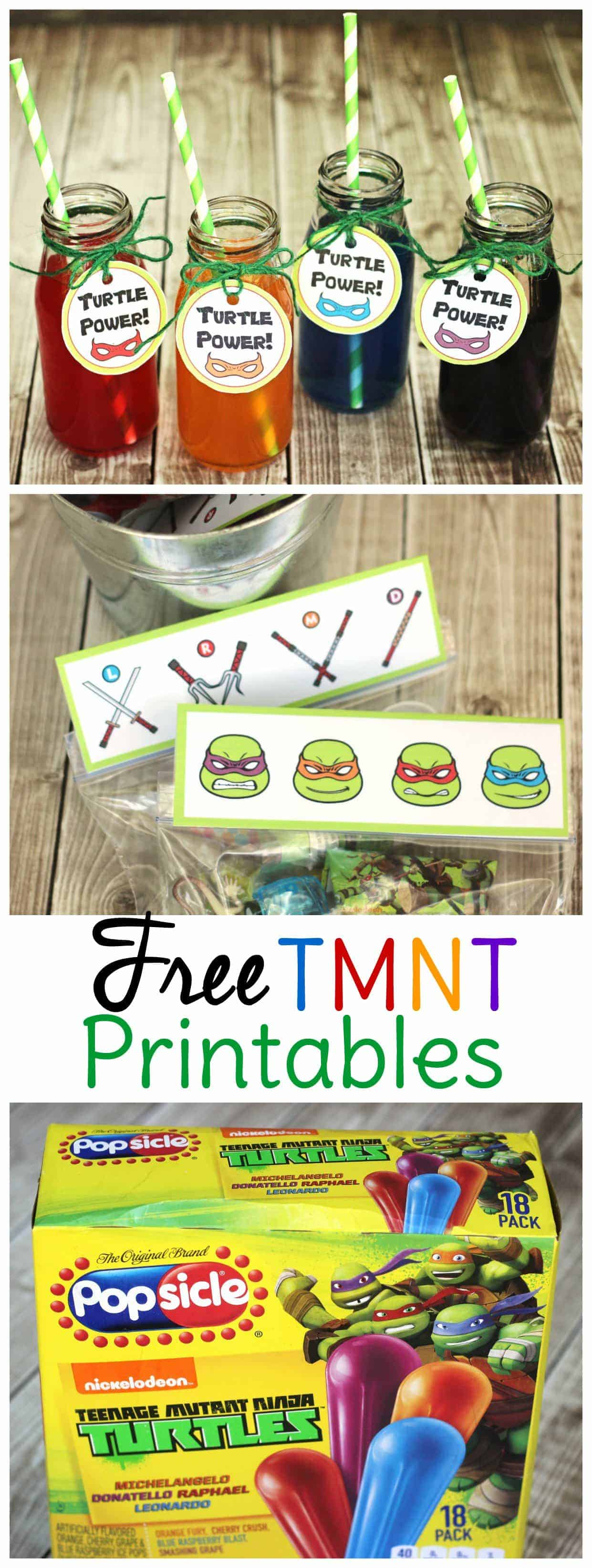 Free Tmnt Party Printables