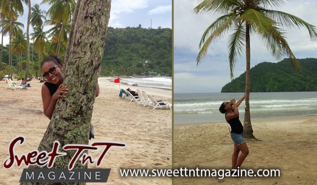 Winta drinking coconut water by coconut tree at Maracas Beach, Sweet T&T, Sweet TnT, Trinidad and Tobago, Trini, vacation, travel,