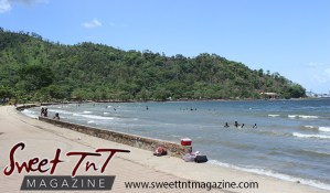 Landscape of blue sky, mountains, shore line, ocean at Chaguaramas in Sweet T&T, Sweet TnT Magazine, Trinidad and Tobago, Trini, vacation, travel Chaguaramas Boardwalk