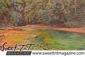 Artist Cliff A Birjou, Matura River, Sweet T&T, Sweet TnT, Trinidad and Tobago, Trini, vacation, travel