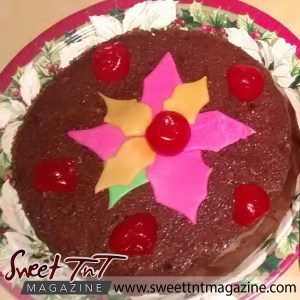 Fruit cake, with cherries on a plate by Radha Ramoutar, Sweet T&T, Sweet TnT, Trinidad and Tobago, Trini, vacation, travel