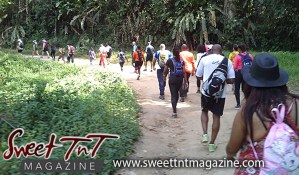 Hikers walking through a trail on hike to Paria waterfalls by Joanna Hayde in Sweet T&T, Sweet TnT, Trinidad and Tobago, Trini, vacation, travel
