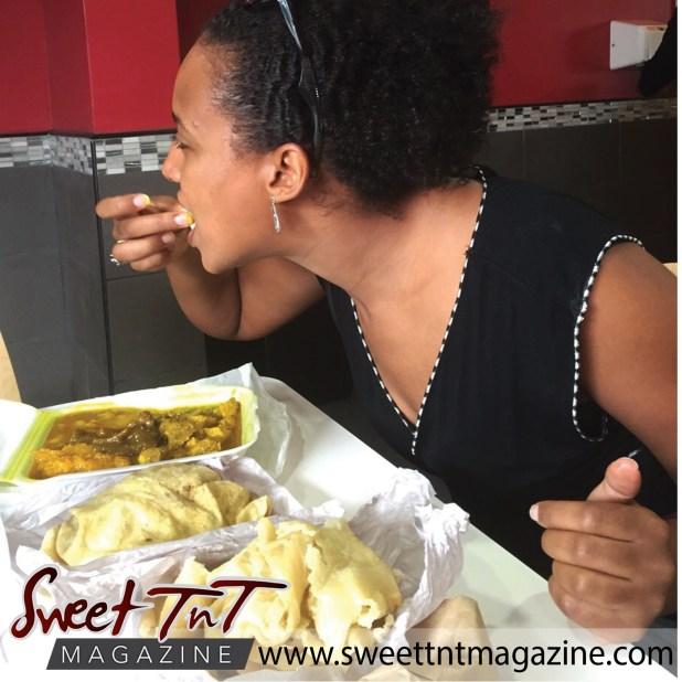 Winta loving Trinidad roti, Sweet T&T, Sweet TnT, Trinidad and Tobago, Trini, vacation, travel, Roti Shops