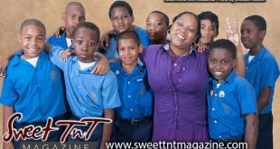 Kezia Reece with students, selfless principal, photo Sheldon Moore, Sweet T&T, Sweet TnT, Trinidad and Tobago, Trini, vacation, travel,