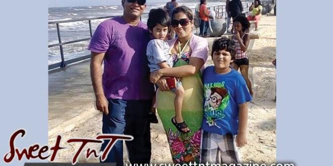 Nerissa Hosein and family on a trip to Manzanilla Beach, Sweet T&T, Sweet TnT, Trinidad and Tobago, Trini, vacation, travel
