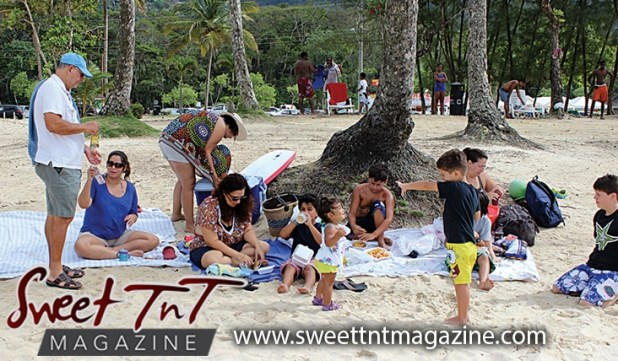 Maracas Beach For Families Friends And Vendors Sweet