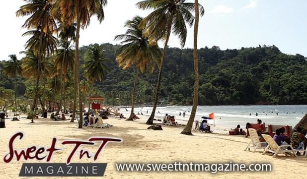 Popular beach Maracas beach sand and sea coconut trees, Sweet T&T, Sweet TnT, Trinidad and Tobago, Trini, vacation, travel