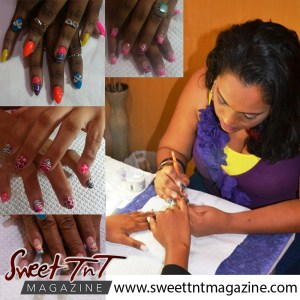 Sommer working on nails, Sweet T&T, Sweet TnT, Trinidad and Tobago, Trini, vacation, travel