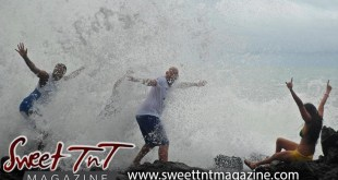 Toco waves, friends, Therese Chung, Beach, Sweet T&T, Sweet TnT, Trinidad and Tobago, Trini, vacation, travel