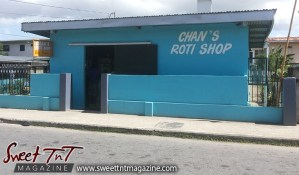Chan's Roti shop, Roti Shops, Arouca, blue shop, blue house, chinese, indian food, Sweet T&T, Sweet TnT, Trinidad and Tobago, Trini, Travel, Vacation, Tourist,