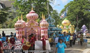 Hosay Floats in Sweet T&T, Sweet TnT, Trinidad and Tobago, Trini, Travel, Vacation, Tourist, Hosay, Muslim, Parade, Tomb, Drummers, Funeral Procession, Woodbrook, St James, St Clair, Palm, Dancing the moon, Tadjahs, Moons, Tadjahs, mosques, Hussein, Hassan, tombs, tassa side, two moons, Husayn, Hassan, no parking