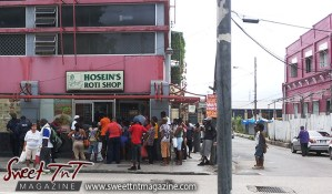 Roti shops the life savers for curry, Hosein, Hosein's Roti Shop, Port of Spain, Henry Street, Curepe taxi stand, lines, Food, Sweet T&T, Sweet TnT, Trinidad and Tobago, Trini, Travel, Vacation, Tourist, Roti Shops
