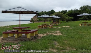 Icacos benches grass trees by Marika Mohammed for story Icacos end of Trinidad in Sweet T&T, Sweet TnT, Trinidad and Tobago, Trini, vacation, travel